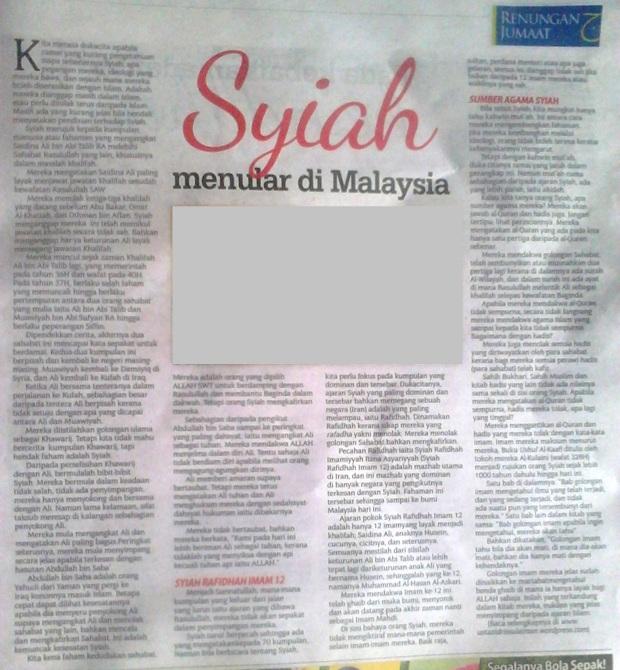 syiah menular di malaysia